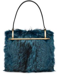 d4e8f77c264 Prada Cahier Cartoon Shoulder Bag in Blue - Lyst