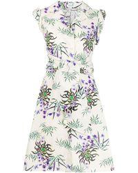 KENZO Floral-print Shirt Dress - Multicolor