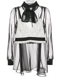 Sacai Blouse à design superposé - Noir