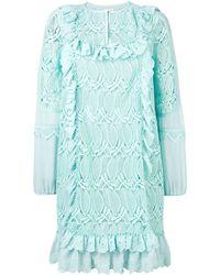 Giamba ラッフルトリム ドレス - ブルー