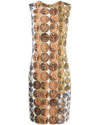 Roberto Cavalli - Coin Print Dress - Lyst