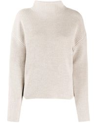 Filippa K Jersey Willow con cuello alzado - Neutro