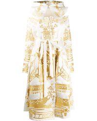 Yuliya Magdych メタリック フーデッドドレス - ホワイト