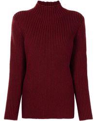 Colville Racer Stripe Sweater - Red
