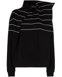 Y. Project ストライプ Tシャツ - ブラック