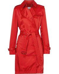 Burberry Trench en ECONYL® avec capuche amovible - Rouge