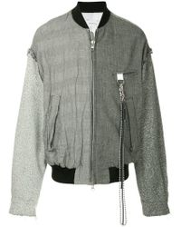 Song For The Mute - Contrast Pattern Bomber Jacket - Lyst