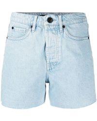 3x1 Short en jean à bords francs - Bleu