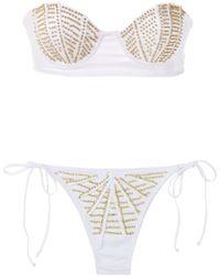 Amir Slama Bikini mit Bandeau-Top - Weiß