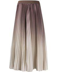 Agnona プリーツ スカート - マルチカラー