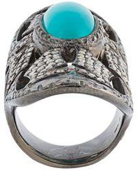 Loree Rodkin - Turquoise & Diamond Bondage Ring - Lyst