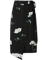 Osklen Rose Glitch ラップスカート - ブラック