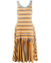 Marni Flared Striped Tank Top Dress - Multicolor