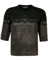 Dolce & Gabbana - レースインサート プルオーバー - Lyst