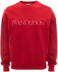 JW Anderson ロゴ スウェットシャツ - レッド