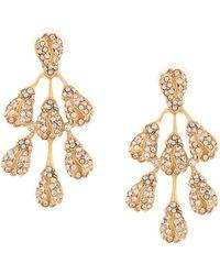 Oscar de la Renta - Vine Drop Pearl Earring - Lyst