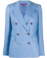 Ralph Lauren Collection カシミア ダブルジャケット - ブルー