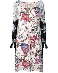 Tory Burch Платье С Цветочным Принтом - Многоцветный