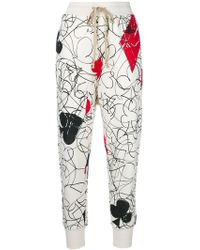 Vivienne Westwood Anglomania - Printed Cropped Sweat Pants - Lyst