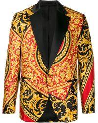 Versace Blazer Met Barokprint - Rood