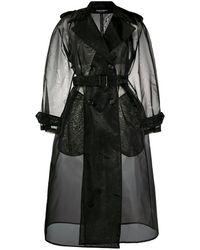 Dolce & Gabbana Trench à boutonnière croisée - Noir