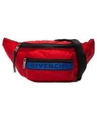 Givenchy - Sac-ceinture en nylon rouge - Lyst
