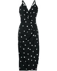 Dolce & Gabbana - ドット ドレープ ドレス - Lyst