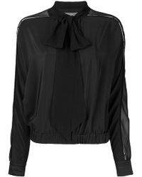 Versace - Sheer Panel Blouse - Lyst