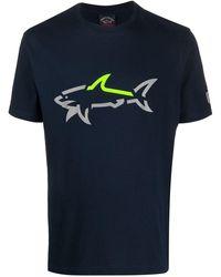 Paul & Shark Cracked Shark Logo T-shirt - Blue