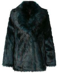 Unreal Fur テクスチャード ジャケット - グリーン