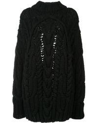 Vera Wang - Pullover mit Zopfmuster - Lyst
