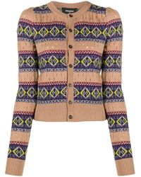DSquared² Fair Isle-style Knitted Cardigan - Brown