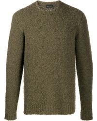 Roberto Collina Texturierter Pullover - Grün