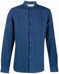 Orlebar Brown Camisa de vestir Giles - Azul