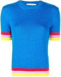 Mary Katrantzou Dua knitted top - Blau