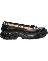 Burberry Overshoe Vintage Check Ballerina Shoes - Black