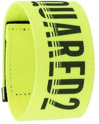 DSquared² Logo Strap Bracelet - Yellow