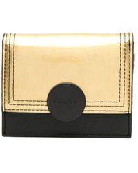 DIESEL フラップ財布 - ブラック