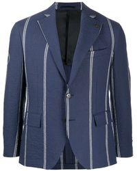 Gabriele Pasini ストライプ ジャケット - ブルー