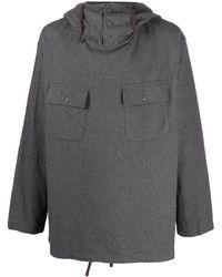 Engineered Garments フーデッド スウェットシャツ - グレー