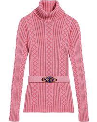 Marc Jacobs Джемпер В Рубчик С Поясом - Розовый