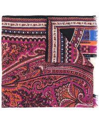 Etro Платок С Узором Пейсли - Многоцветный