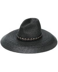 Saint Laurent Concho Band Hat - Black