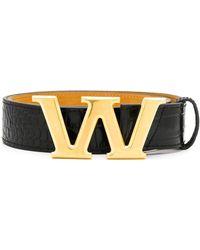 Alexander Wang W Buckle Belt - Black