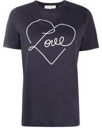 Chinti & Parker Love Tシャツ - ブルー