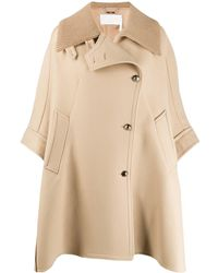 Chloé Oversized Cape - Natural