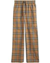 Burberry Vintage Check Satin Trim Pants - Multicolor