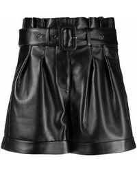 Arma Belted-waist Shorts - Black