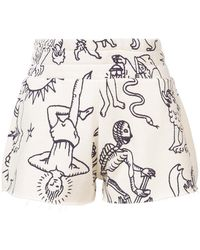 The Elder Statesman - Printed Shorts - Lyst