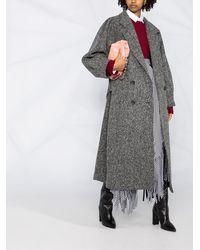 MSGM Двубортное Пальто - Черный